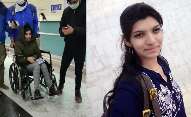 Bhuvanagiri Resident Shavani Stopped At Georgia - Sakshi