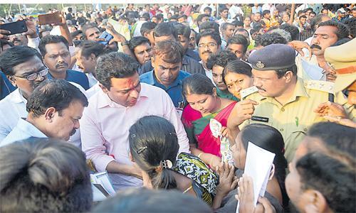No Shortage oF Funds For Municipalities Says KTR - Sakshi