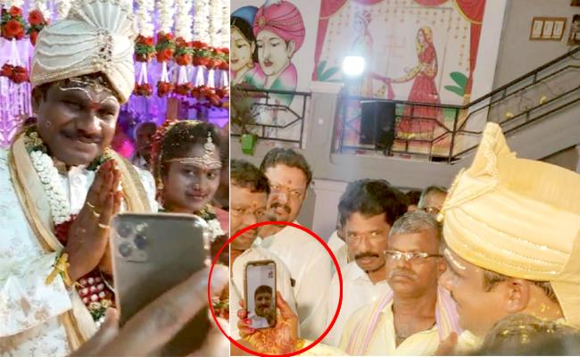 MP Santosh Kumar Wishes Newly Wed Couple Through Video Calling - Sakshi