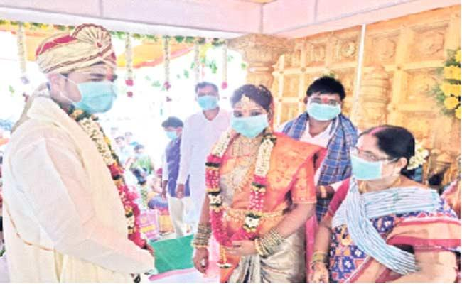 Coronavirus Leads To Simple Software employee Marriage  - Sakshi