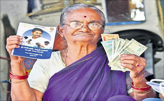 Distribution Of Pensions In April without Biometrics - Sakshi