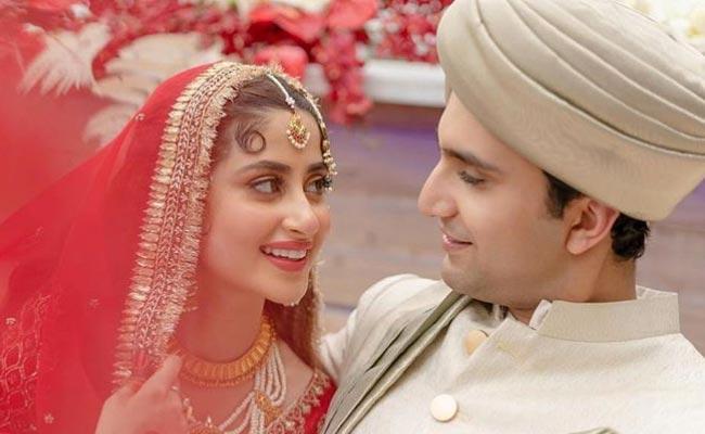 Sridevi MOM Movie Co Star Sajal Ali Wedding Pics Goes Viral - Sakshi