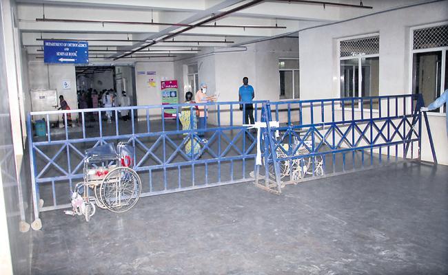 OP services shut down in hospitals - Sakshi