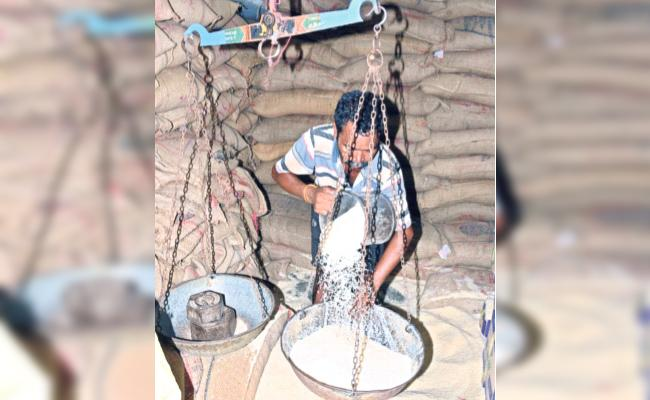 Telangana Officials Focus on Ration And Money Distribute - Sakshi