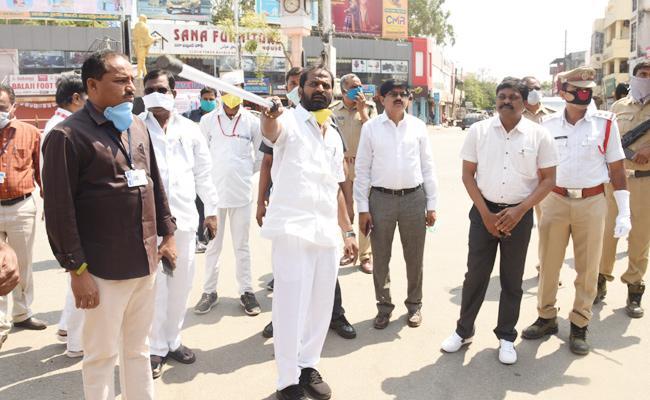Minister Srinivas Goud Awareness on Coronavirus Mahabubnagar - Sakshi