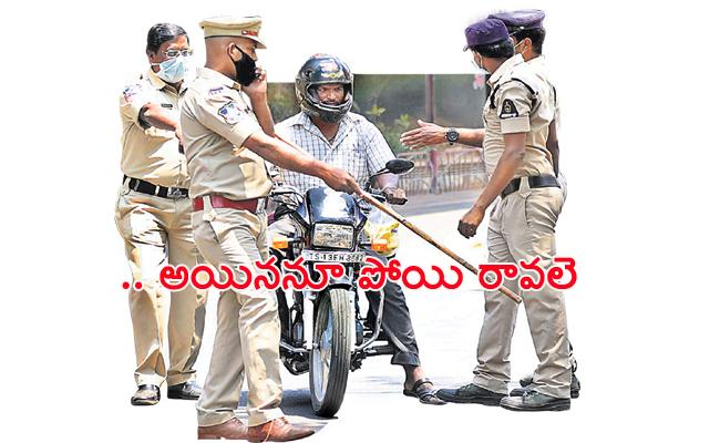 People Neglect on Lockdown in Hyderabad - Sakshi