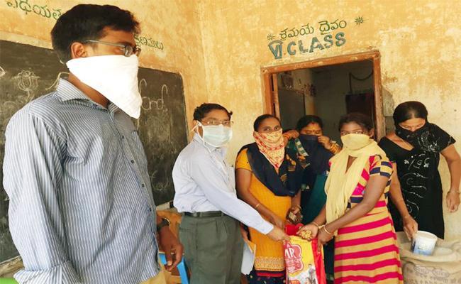 Ration And Food Distributing in Vizianagaram - Sakshi