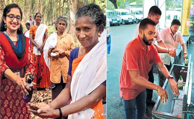 Kerala IAS Officer Divya Awareness on Handwash And Sanitizers - Sakshi