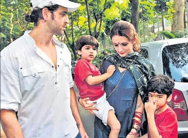 Sussanne Khan moves in with ex-husband Hrithik Roshan to co-parent sons - Sakshi