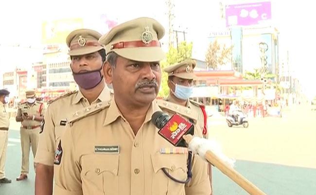 Lockdown Is Being Tightly Implemented In Vijayawada - Sakshi