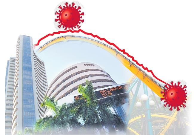 Sensex falls 1300 points from highs as 2 cases of coronavirus reported in India - Sakshi