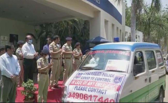 Cyberabad CP Sajjanar Inaugurates 13 New Ambulances - Sakshi