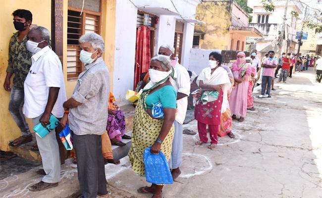 Free Ration Rice Distributig in SPSR Nellore - Sakshi