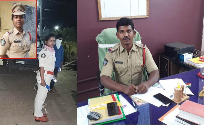 Police Officials Duty in Lockdown Time Srikakulam - Sakshi