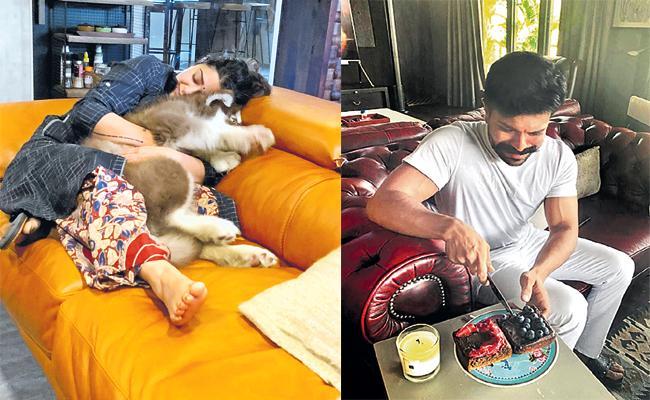 Tollywood Celebrities Shares Home quarantine in Social Media - Sakshi