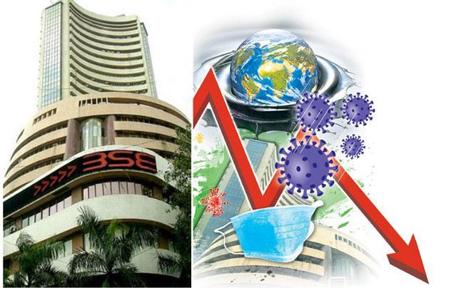 Coronavirus Break Market Growth Sensex Down 1375 points - Sakshi