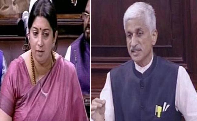 Smriti Irani Answer To Vijaya Sai Reddy Question On Anganwadi Centers - Sakshi