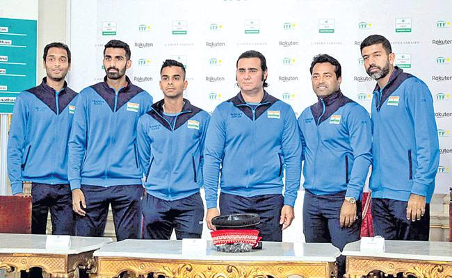 India Will Play Davis Cup Qualifier Match Against Croatia - Sakshi
