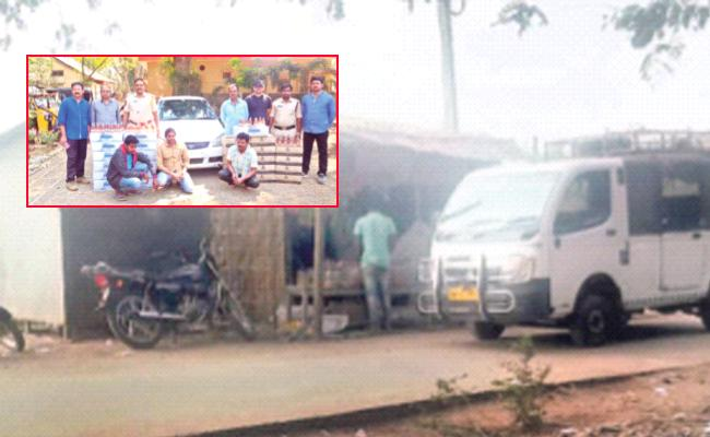 Telangana Alcohol Smuggling to Andhra Pradesh West Godavari - Sakshi