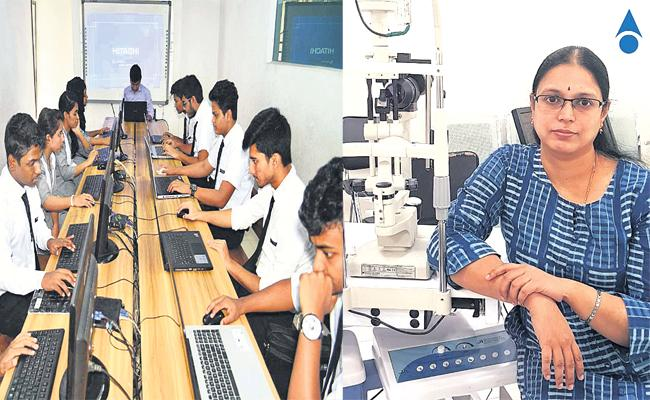Eye Damage With Digital Education in Exams Time - Sakshi