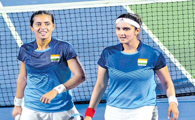 India Team First Time Qualifies For Fed Cup Playoffs - Sakshi