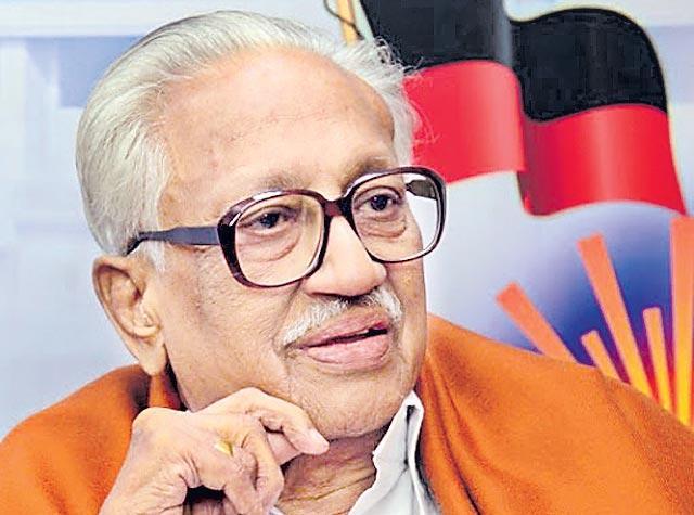 DMK general secretary K Anbazhagan passes away at 97 - Sakshi