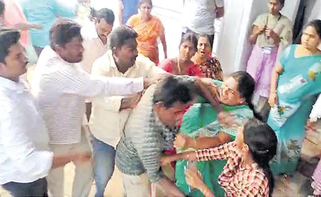 TDP Activists Attack On Volunteers - Sakshi