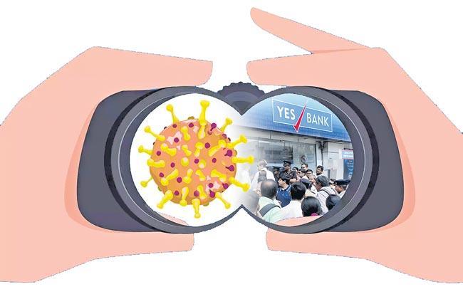 Stocks to remain under pressure amid Yes Bank crisis And virus concerns - Sakshi