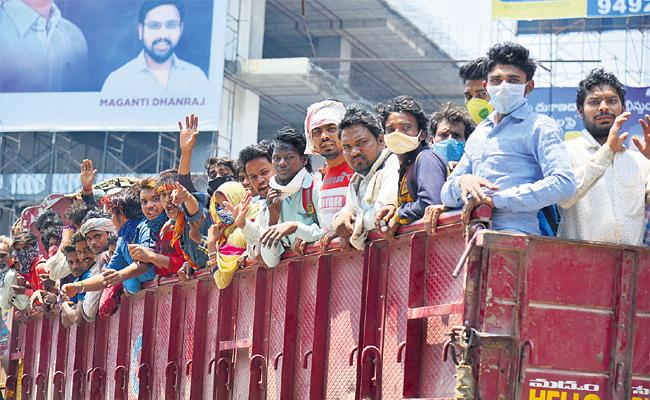 Migrant Workers Worried on Going Native Places From Hyderabad - Sakshi