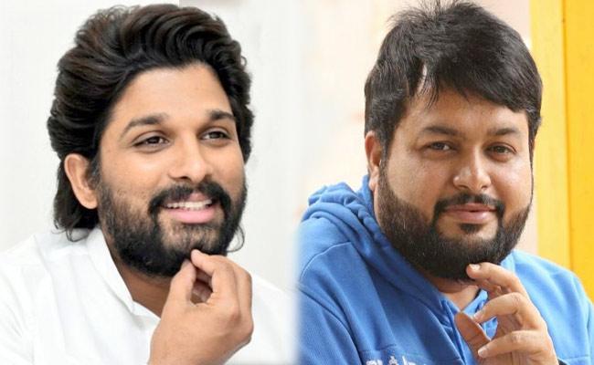 Allu Arjun Praises Thaman For Keeping Promises Over Ala Vaikunthapurramuloo Album - Sakshi