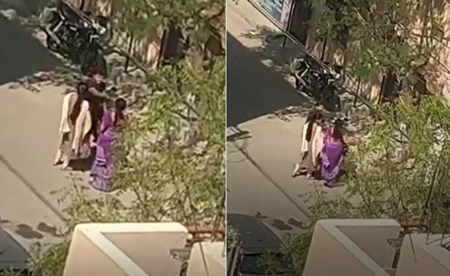Women beaten up by a man in Borabanda - Sakshi