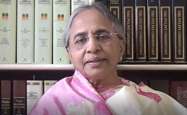 Sister YS Vimala Reddy Gave Message About Easter Sunday Speciality - Sakshi