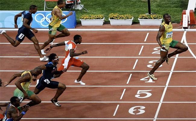 Social Distancing: Usain Bolt Olympic Photo Goes Viral - Sakshi