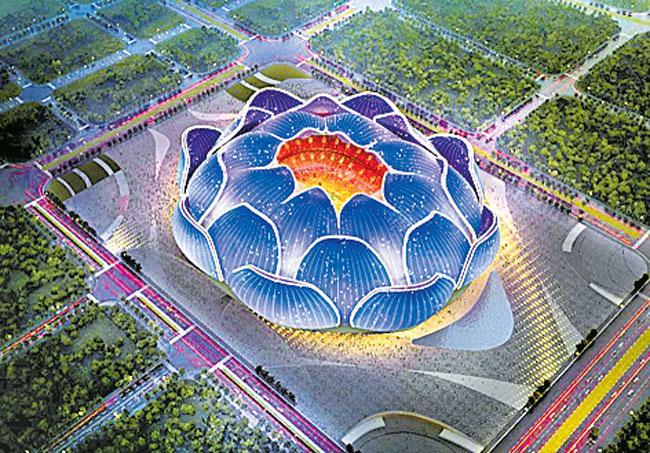 Guangzhou to build China is largest professional football stadium - Sakshi