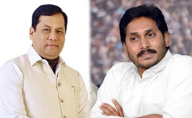 YS Jagan Mohan Reddy Talks With Assam CM Sarbananda Sonowal - Sakshi