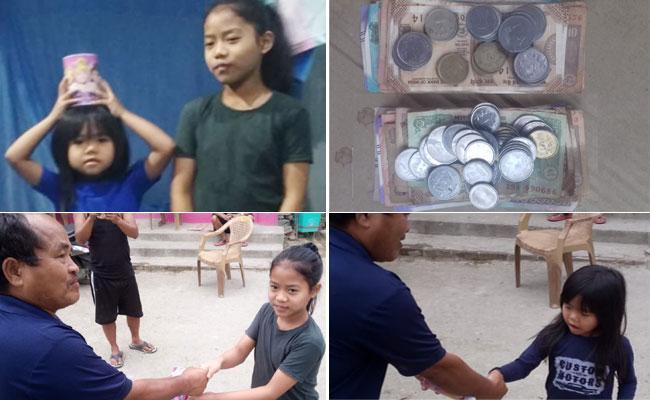 Corona Virus: Mizoram Little Girls Donate Their Savings - Sakshi