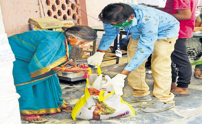 Free Ration for Above 69 lakh Families in Four Days - Sakshi