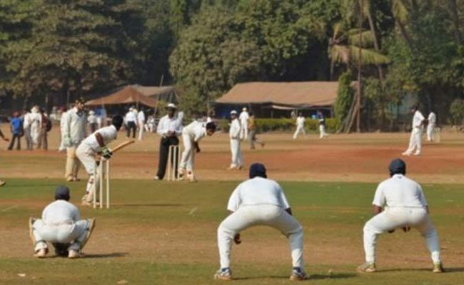 BJP leader cricket match during lockdown in UP - Sakshi