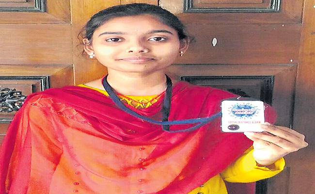 Alert Identity Card Invented By Sneha From Sircilla - Sakshi