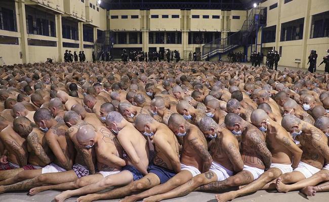 Prisoners Lockdown In Nayib Bukele And Izalco Jail In South America - Sakshi