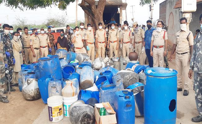 TDP Activists Held Adulterated Alcohol Caught in Chittoor - Sakshi