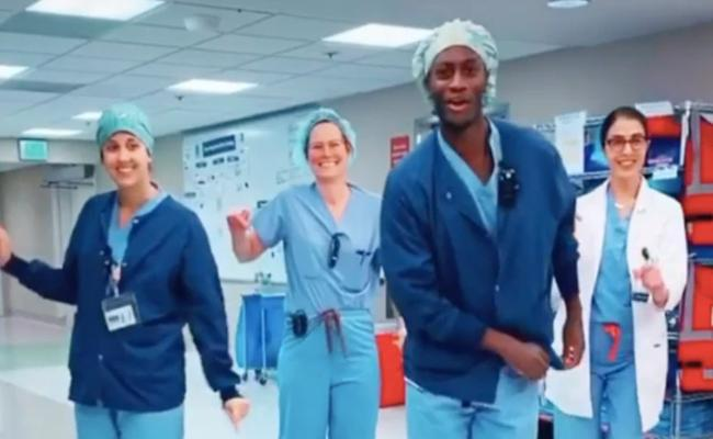 Coronavirus: US Doctors Dance Video Went Viral - Sakshi
