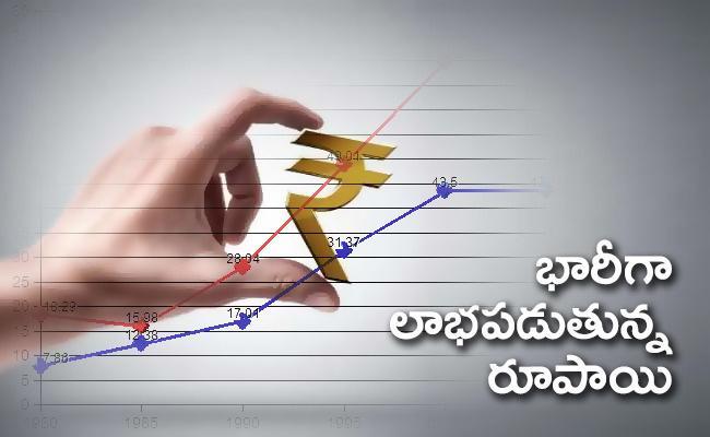 Rupee surges 63 paise to 75.03 per dollar amid fresh fund inflows - Sakshi