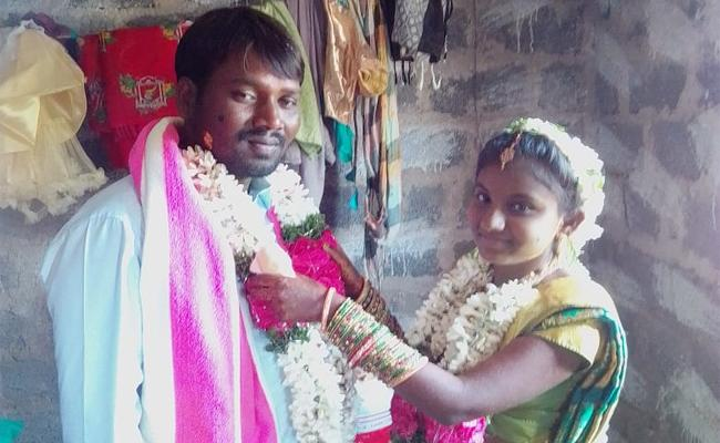 Simple Marriage Without Relatives And Celebrations in Warangal - Sakshi