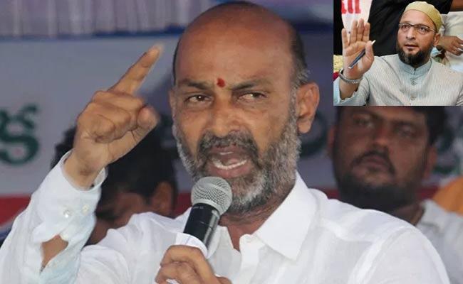 Bandi Sanjay Fires On MP Asaduddin Owaisi - Sakshi