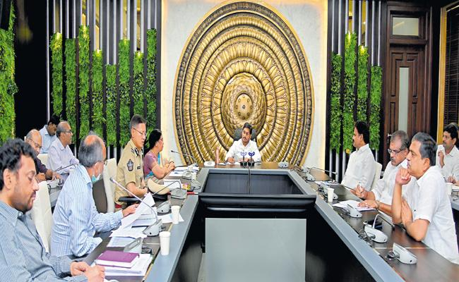 YS Jaganmohan Reddy Review Meeting With Officials On Covid-19 Prevention - Sakshi