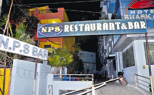 Liquor Sales at TDP Leader Bar - Sakshi