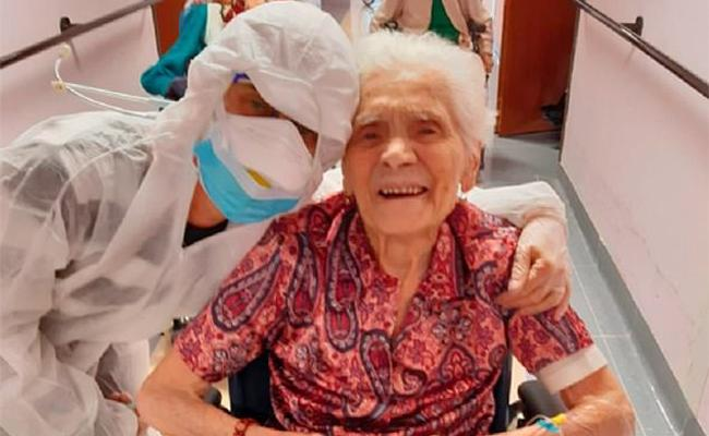 Italy: grand mother survived from flu and corona virus - Sakshi