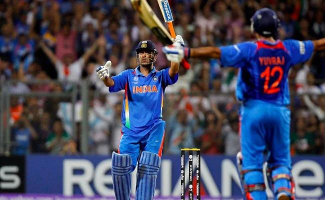 Dhoni Promoted At Batting Order In World Cup Is Sachin's Plan, Sehwag - Sakshi