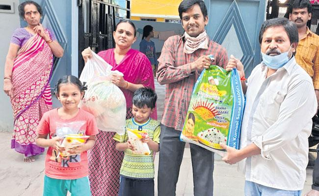 Corona Crisis Charity is helping out daily-wage workers in TFI - Sakshi